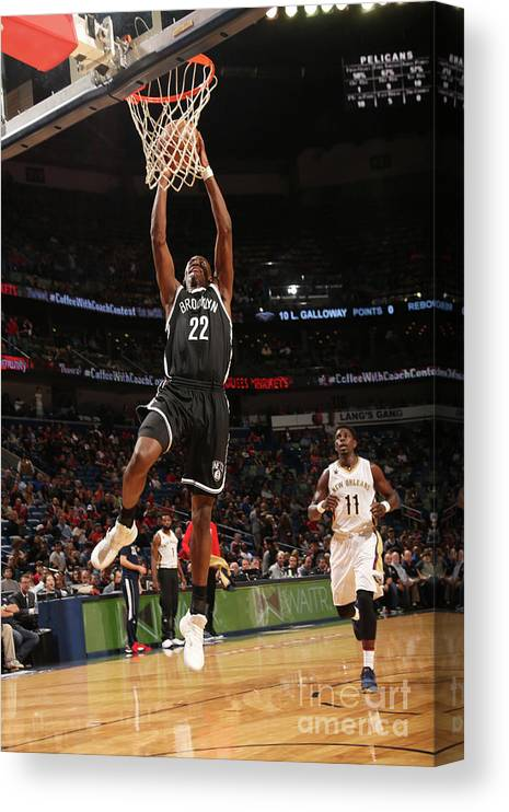 Smoothie King Center Canvas Print featuring the photograph Caris Levert by Layne Murdoch