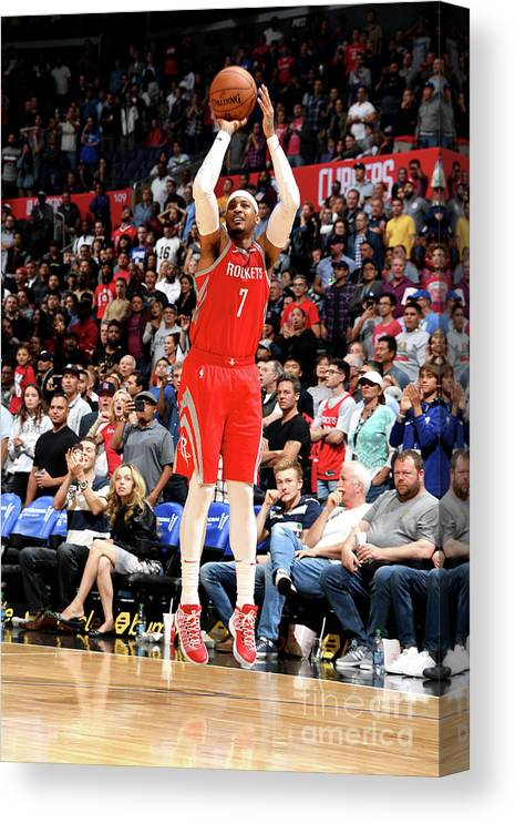 Nba Pro Basketball Canvas Print featuring the photograph Carmelo Anthony by Andrew D. Bernstein