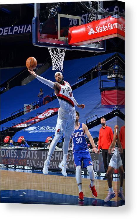 Nba Pro Basketball Canvas Print featuring the photograph Carmelo Anthony by Jesse D. Garrabrant