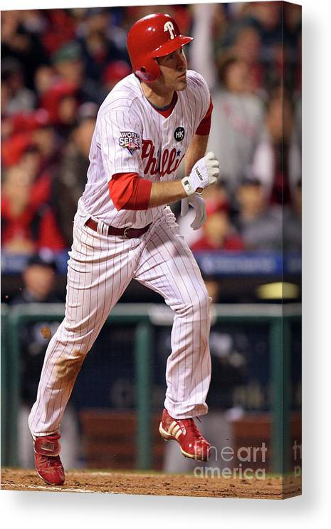 People Canvas Print featuring the photograph Chase Utley by Jed Jacobsohn
