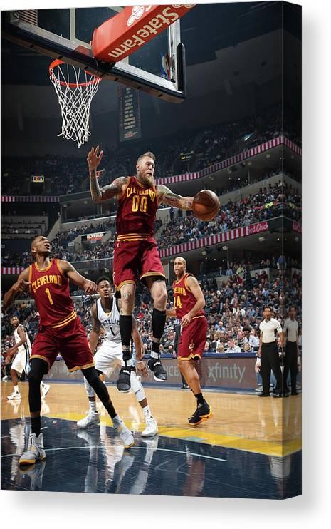 Nba Pro Basketball Canvas Print featuring the photograph Chris Andersen by Joe Murphy
