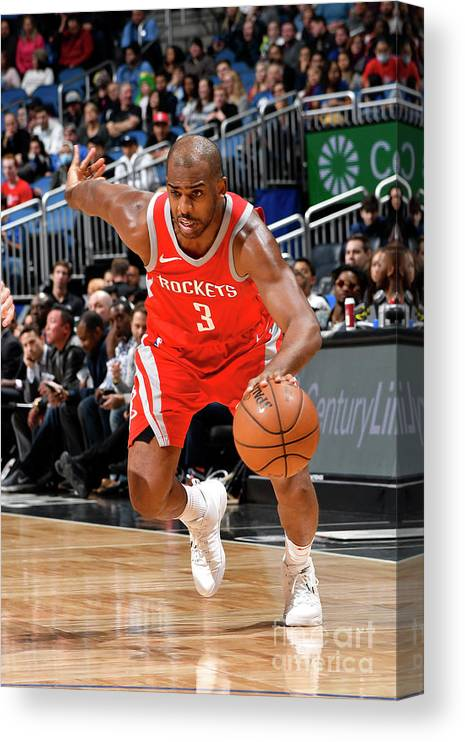 Nba Pro Basketball Canvas Print featuring the photograph Chris Paul by Fernando Medina