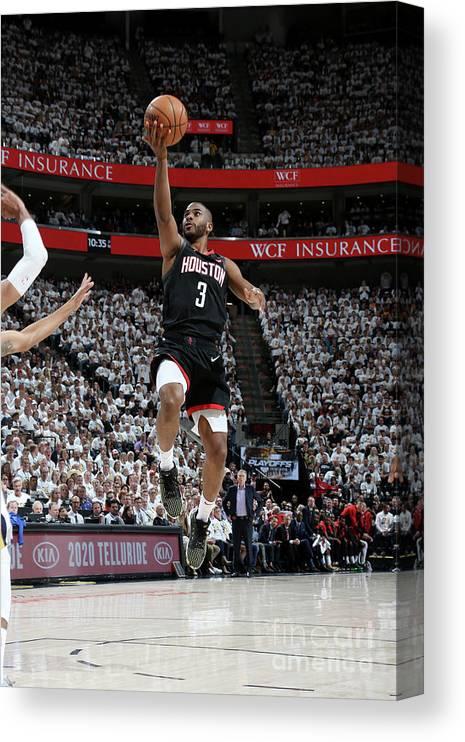 Playoffs Canvas Print featuring the photograph Chris Paul by Melissa Majchrzak