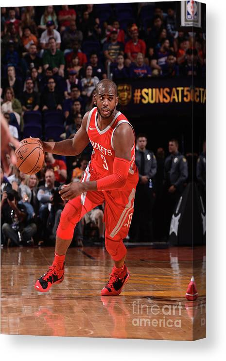 Nba Pro Basketball Canvas Print featuring the photograph Chris Paul by Michael Gonzales