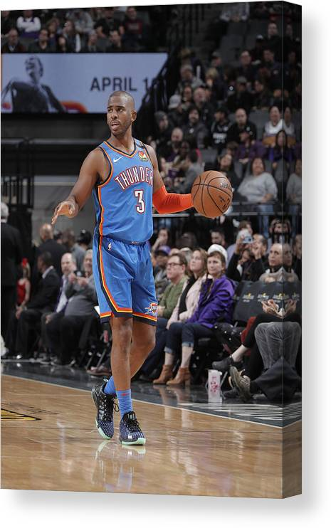 Nba Pro Basketball Canvas Print featuring the photograph Chris Paul by Rocky Widner