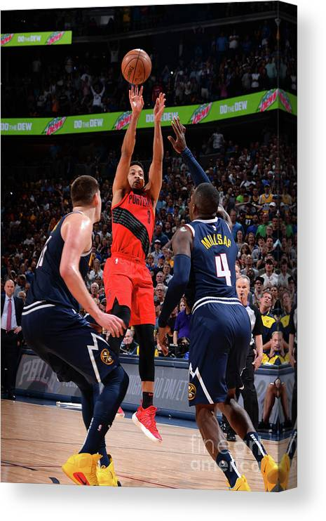 Playoffs Canvas Print featuring the photograph C.j. Mccollum by Bart Young