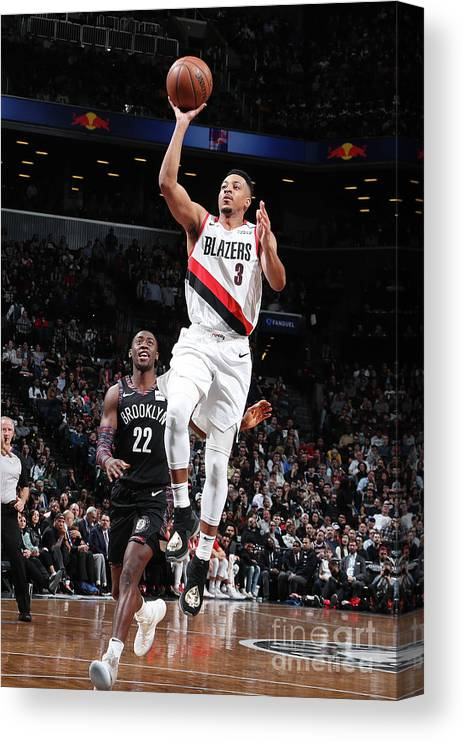 Nba Pro Basketball Canvas Print featuring the photograph C.j. Mccollum by Nathaniel S. Butler