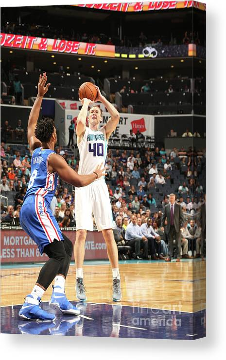 Nba Pro Basketball Canvas Print featuring the photograph Cody Zeller by Kent Smith