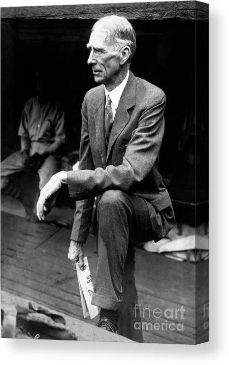 American League Baseball Canvas Print featuring the photograph Connie Mack by National Baseball Hall Of Fame Library