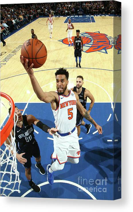 Nba Pro Basketball Canvas Print featuring the photograph Courtney Lee by Nathaniel S. Butler