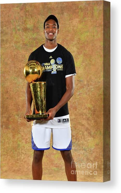 Playoffs Canvas Print featuring the photograph Damian Jones by Jesse D. Garrabrant