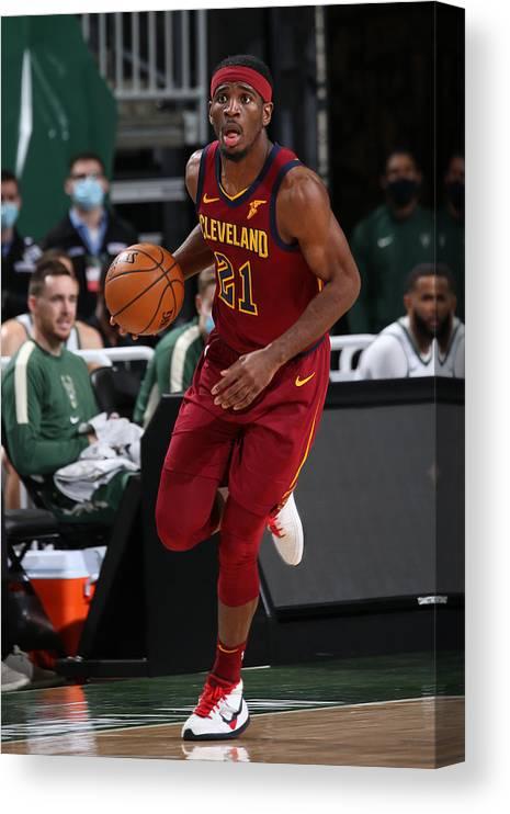 Nba Pro Basketball Canvas Print featuring the photograph Damyean Dotson by Gary Dineen