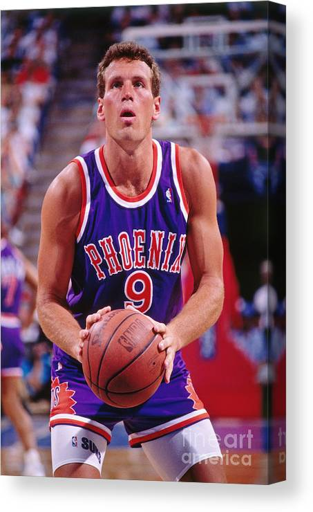 Nba Pro Basketball Canvas Print featuring the photograph Dan Majerle by Rocky Widner