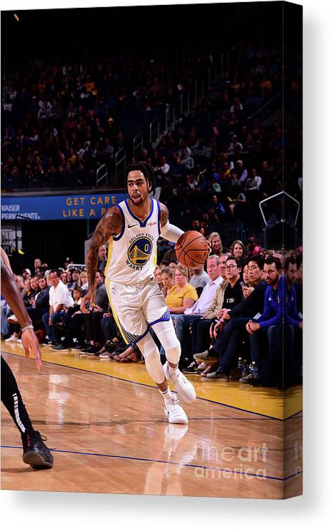 San Francisco Canvas Print featuring the photograph D'angelo Russell by Noah Graham