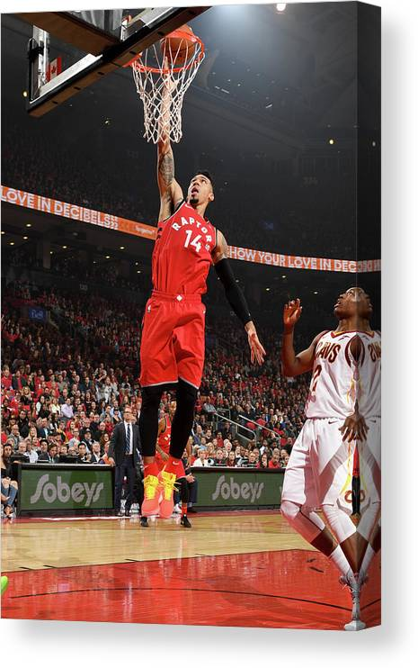 Nba Pro Basketball Canvas Print featuring the photograph Danny Green by Ron Turenne