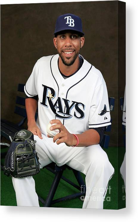 Media Day Canvas Print featuring the photograph David Price by Rob Carr