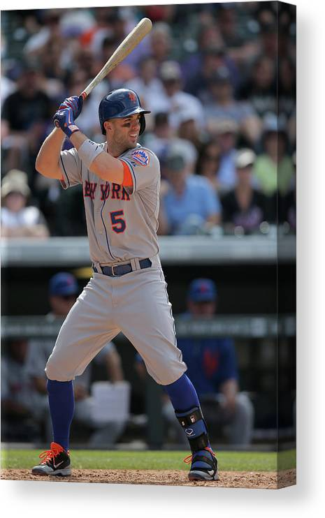 National League Baseball Canvas Print featuring the photograph David Wright by Doug Pensinger