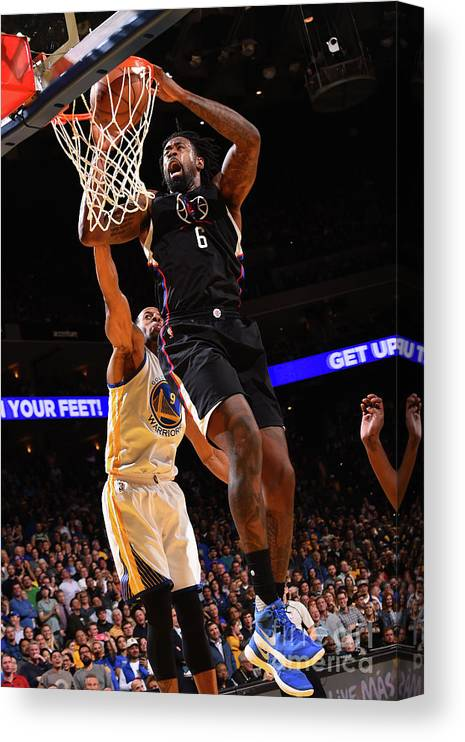 Nba Pro Basketball Canvas Print featuring the photograph Deandre Jordan by Noah Graham