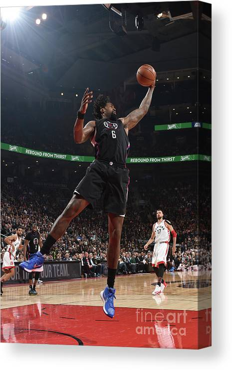 Nba Pro Basketball Canvas Print featuring the photograph Deandre Jordan by Ron Turenne