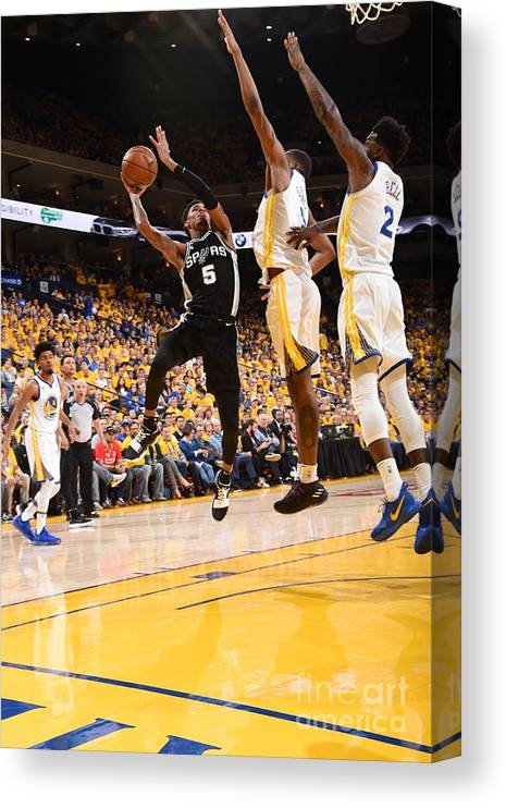 Playoffs Canvas Print featuring the photograph Dejounte Murray by Andrew D. Bernstein