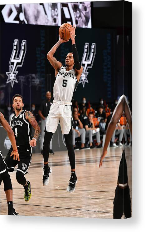 Nba Pro Basketball Canvas Print featuring the photograph Dejounte Murray by Jesse D. Garrabrant