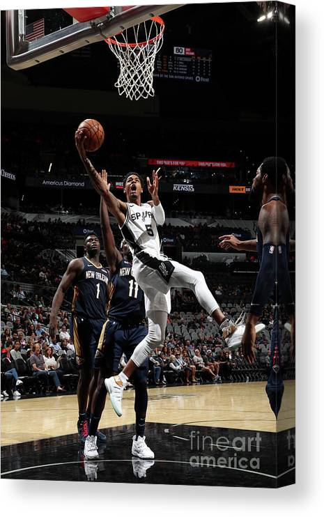 Nba Pro Basketball Canvas Print featuring the photograph Dejounte Murray by Joe Murphy