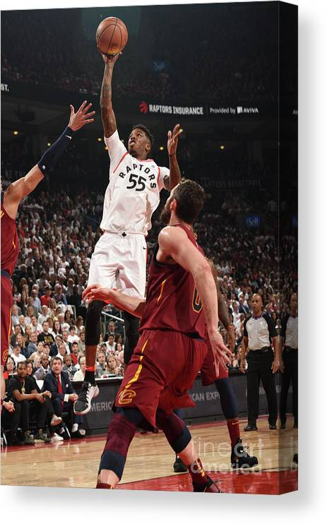 Playoffs Canvas Print featuring the photograph Delon Wright by Ron Turenne