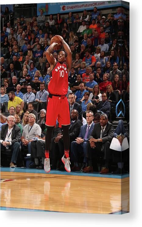Nba Pro Basketball Canvas Print featuring the photograph Demar Derozan by Layne Murdoch