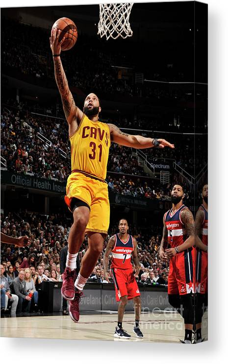 Nba Pro Basketball Canvas Print featuring the photograph Deron Williams by David Liam Kyle