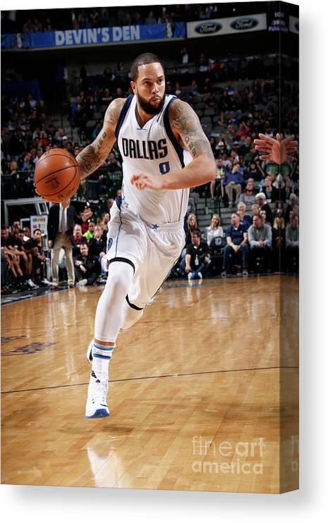 Nba Pro Basketball Canvas Print featuring the photograph Deron Williams by Glenn James
