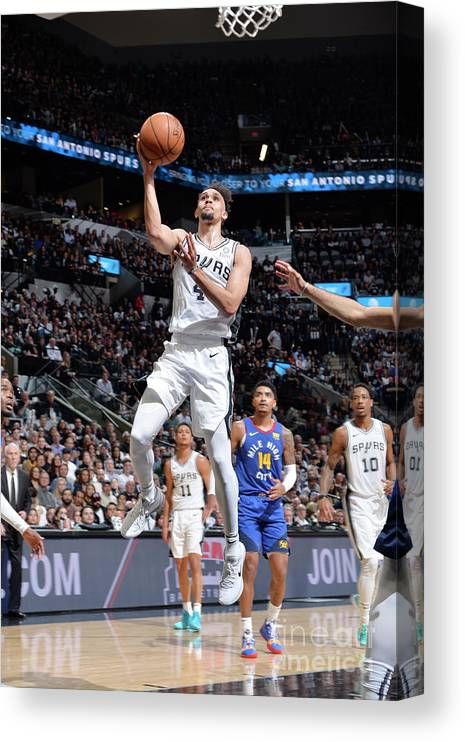 Playoffs Canvas Print featuring the photograph Derrick White by Mark Sobhani