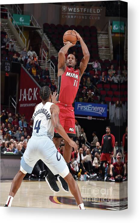 Nba Pro Basketball Canvas Print featuring the photograph Dion Waiters by David Liam Kyle