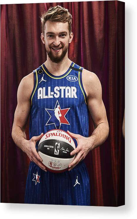 Nba Pro Basketball Canvas Print featuring the photograph Domantas Sabonis by Jennifer Pottheiser