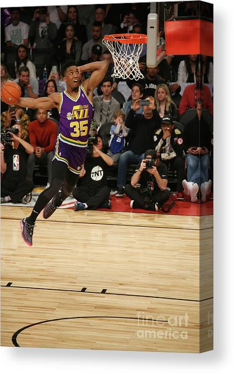Event Canvas Print featuring the photograph Donovan Mitchell by Gary Dineen