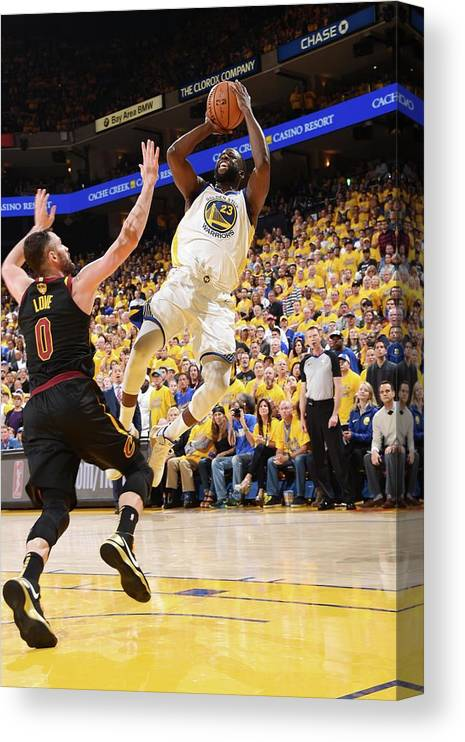 Playoffs Canvas Print featuring the photograph Draymond Green by Andrew D. Bernstein