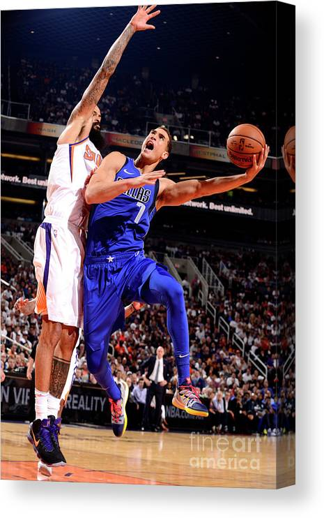 Dwight Powell Canvas Print featuring the photograph Dwight Powell by Barry Gossage