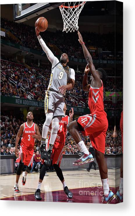 Nba Pro Basketball Canvas Print featuring the photograph Dwyane Wade by David Liam Kyle