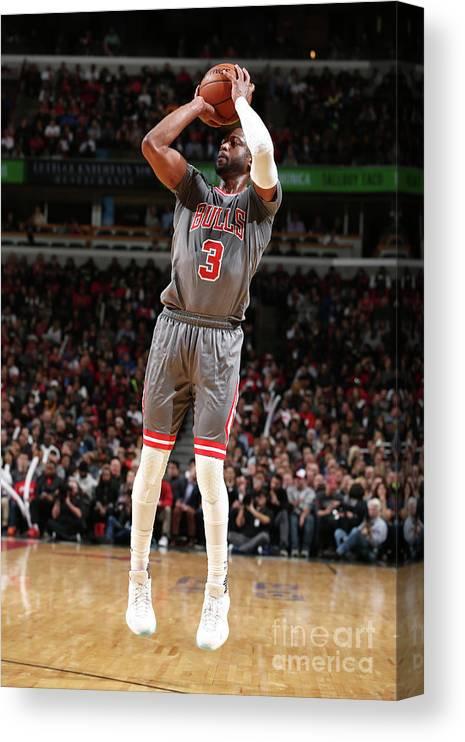 Nba Pro Basketball Canvas Print featuring the photograph Dwyane Wade by David Sherman