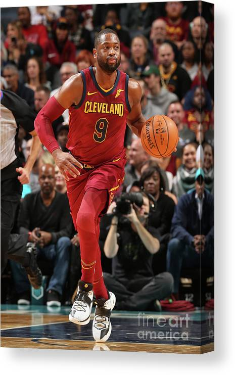 Nba Pro Basketball Canvas Print featuring the photograph Dwyane Wade by Kent Smith