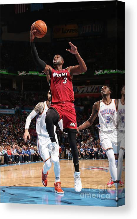 Drive Canvas Print featuring the photograph Dwyane Wade by Layne Murdoch
