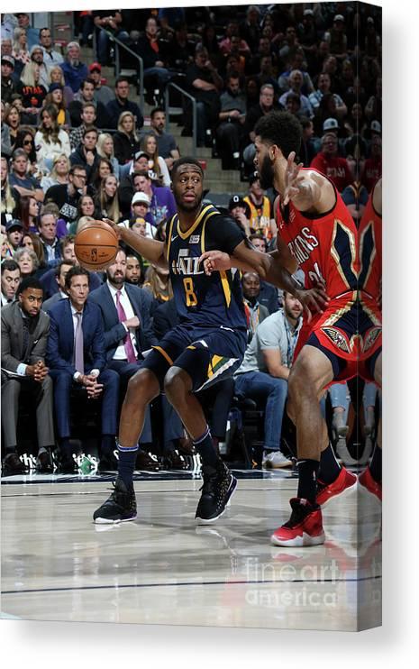 Nba Pro Basketball Canvas Print featuring the photograph Emmanuel Mudiay by Melissa Majchrzak