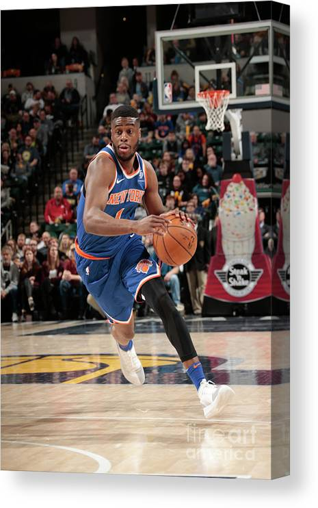 Nba Pro Basketball Canvas Print featuring the photograph Emmanuel Mudiay by Ron Hoskins