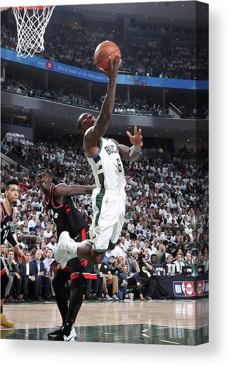Playoffs Canvas Print featuring the photograph Eric Bledsoe by Nathaniel S. Butler