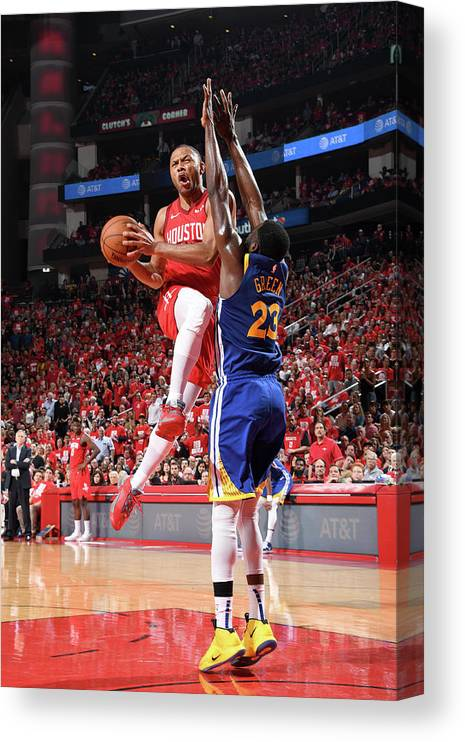 Playoffs Canvas Print featuring the photograph Eric Gordon by Andrew D. Bernstein