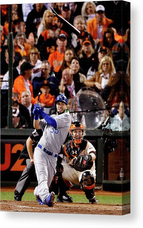 San Francisco Canvas Print featuring the photograph Eric Hosmer by Thearon W. Henderson