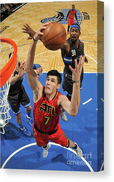 Nba Pro Basketball Canvas Print featuring the photograph Ersan Ilyasova by Fernando Medina