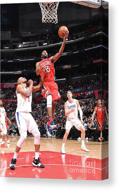 California Canvas Print featuring the photograph E'twaun Moore by Andrew D. Bernstein