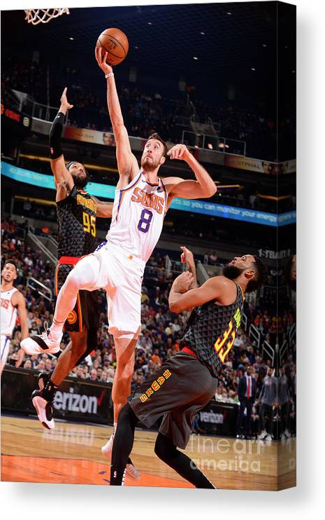 Nba Pro Basketball Canvas Print featuring the photograph Frank Kaminsky by Barry Gossage