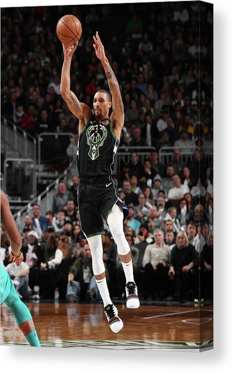 Nba Pro Basketball Canvas Print featuring the photograph George Hill by Gary Dineen