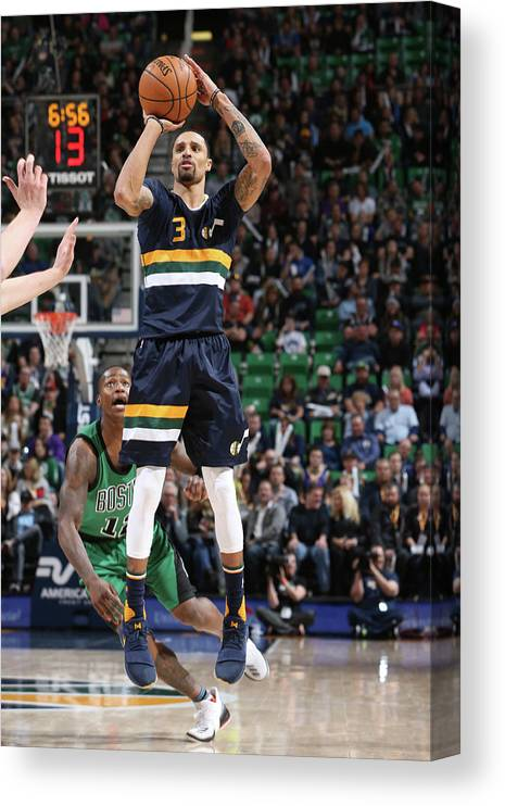 Nba Pro Basketball Canvas Print featuring the photograph George Hill by Melissa Majchrzak